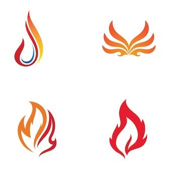 Feu logo template flamme clipart symbole icône vecteur