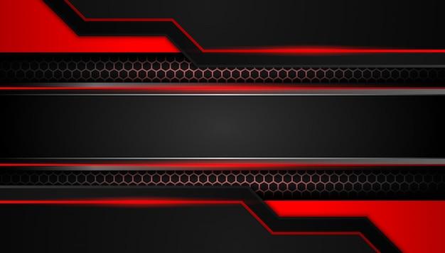 Feu rouge abstrait sur fond de luxe noir