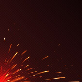Feu rougeoyant étincelles fond de vecteur isolé. illustration d'étincelle brillante illustration flamboyante