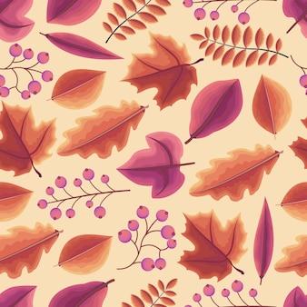 Feuillage de feuille automne saison d'automne seamless pattern répétable