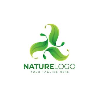 Feuille arbre forme nature à base de plantes vie saine logo