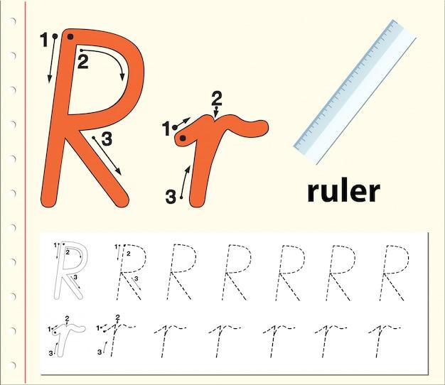 Feuille de calcul alphabet calque