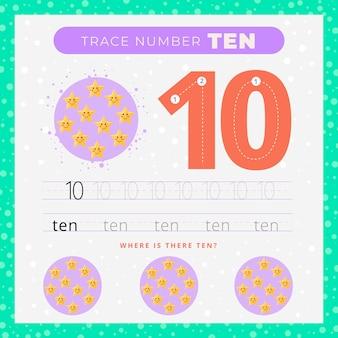 Feuille de calcul de la création numéro dix