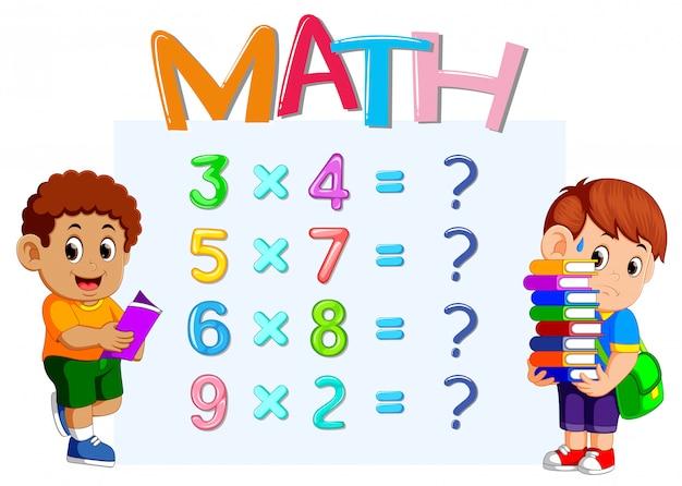 Feuille de calcul du nombre de maths