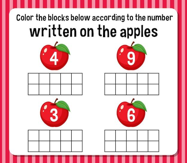 Feuille de calcul du nombre de nombres mathématiques