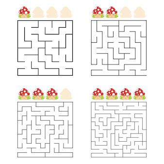 Une feuille de calcul de labyrinthes carrés pour les enfants