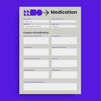 Feuille de calcul médicale simple et moderne ati