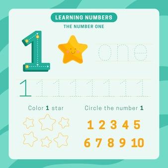 Feuille de calcul numéro 1 avec étoile