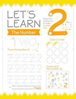 Feuille de calcul numéro 2 avec des cercles