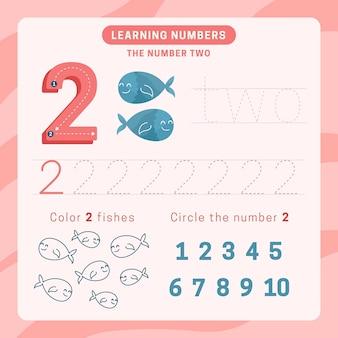Feuille de calcul numéro 2 avec poisson