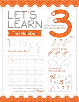 Feuille de calcul numéro 3 avec des cercles