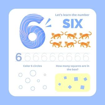 Feuille de calcul numéro 6 avec des animaux