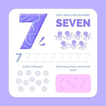 Feuille de calcul numéro 7 avec des animaux