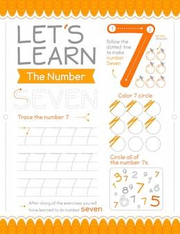 Feuille de calcul numéro 7 avec des cercles