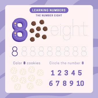 Feuille de calcul numéro 8 avec cookies