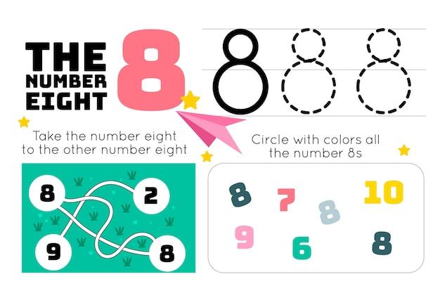 Feuille de calcul numéro 8 avec labyrinthe