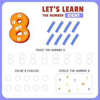 Feuille De Calcul Numéro 8 Vecteur gratuit