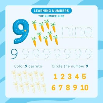 Feuille de calcul numéro 9 avec des carottes