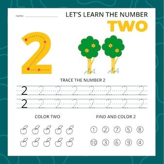 Feuille de calcul numéro deux pour les enfants
