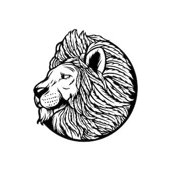 Feuille de cannabis lion