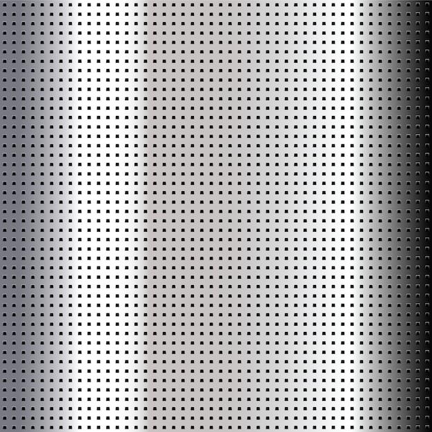 Feuille de chrome perforée métallique