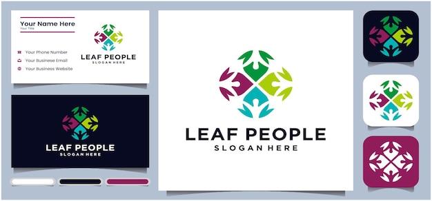 Feuille concept communication logo conversation logo pour tout le monde communauté travail entreprise entreprise