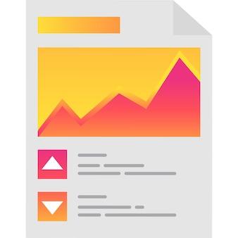 Feuille de document de travail papier icône vecteur isolé
