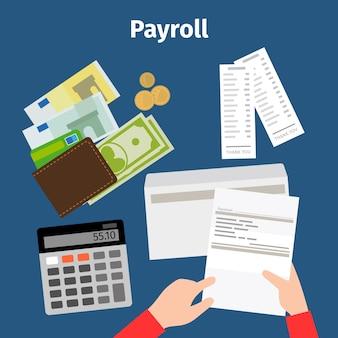 Feuille de facture ou icône de paie