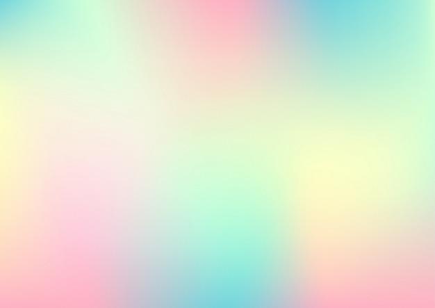 Feuille holographique, fond abstrait dégradé pastel.