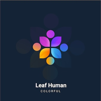 Feuille humaine logo full collor