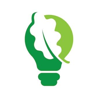 Feuille à l'intérieur des idées ampoule