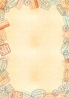 Feuille jaune de vieux papier