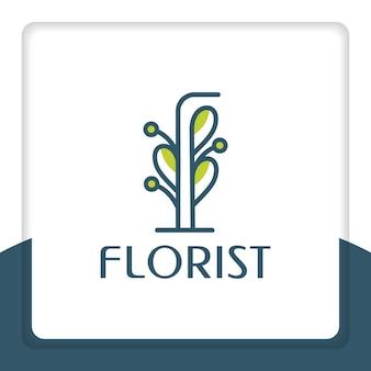 Feuille logo design vecteur floral nature fleuriste