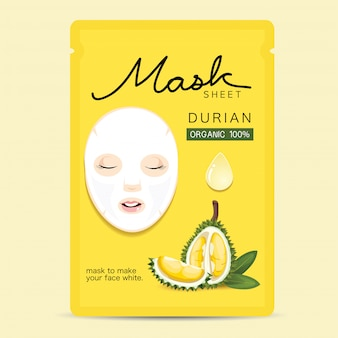 Feuille de masque en durian