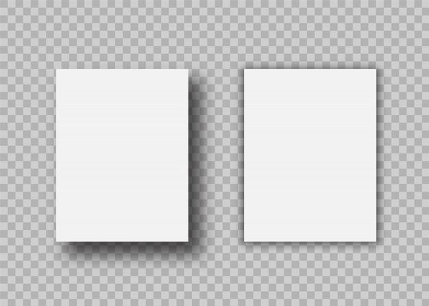 Feuille de papier a4 avec ombre