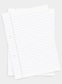 Feuille de papier blanc pour des affaires.