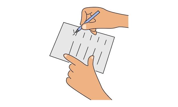 Feuille de papier de contrat commercial signe de main
