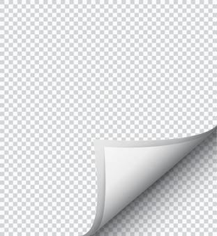 Feuille de papier à damier blanc,