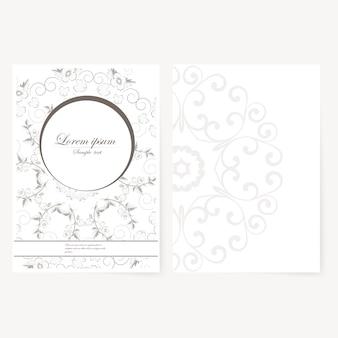 Feuille de papier décorative avec un design oriental