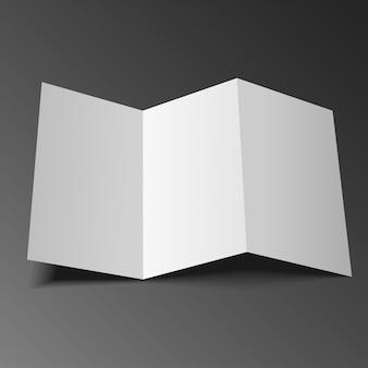 Feuille de papier à trois volets vierge, dépliant, brochure