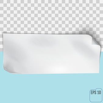 Feuille de papier vide. vecteur eps10