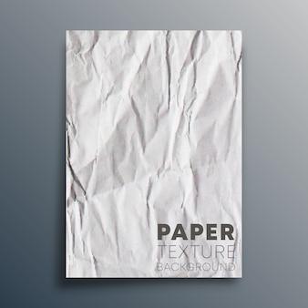 Feuille de papier vierge froissée