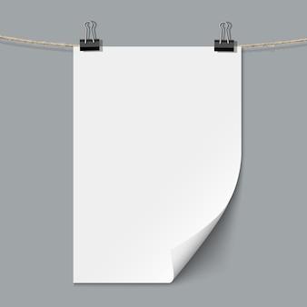 Feuille de papier vierge