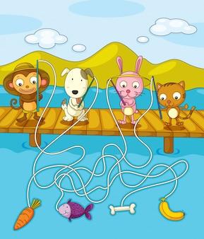 Feuille de pêche