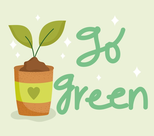 La feuille de pot passe au vert