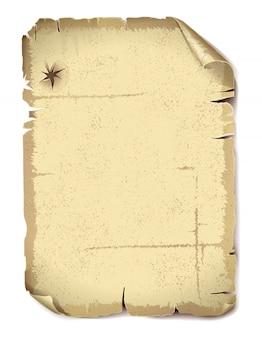 Feuille séparée de vieux papier