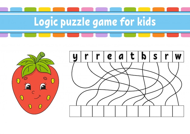 Feuille de travail du jeu de puzzle logique