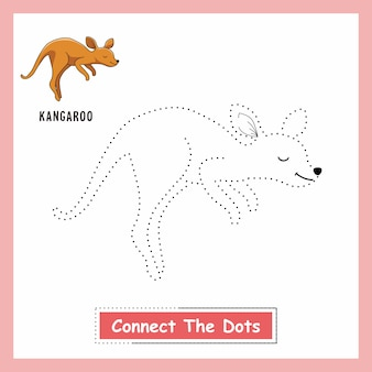 Feuille de travail kangaroo connect the dots wallaby