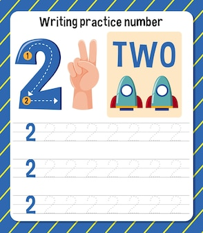 Feuille de travail de la pratique d'écriture numéro 2