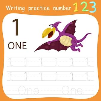 Feuille de travail pratique d'écriture numéro un